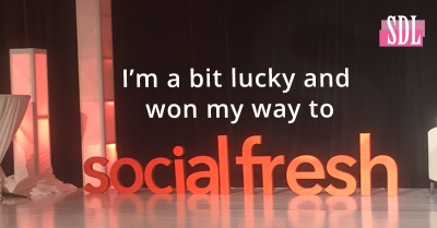 I'm a bit lucky and won my way to Social Fresh