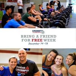 CrossFit Turbine Brin-a-Friend Week Social Media Engagement Photo 20% rule