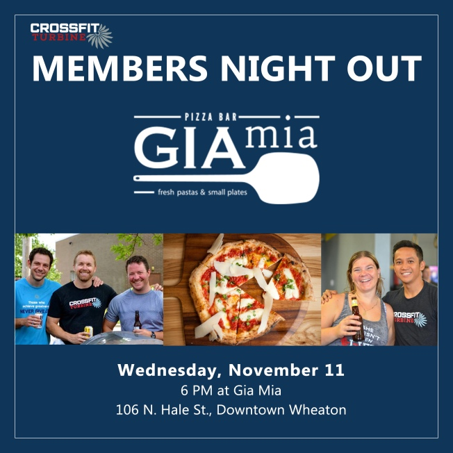 CrossFit Turbine Members Night Out Social Media Image