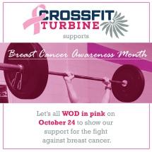 Social media image CrossFit Turbinne Breast Cancer Awareness WOD