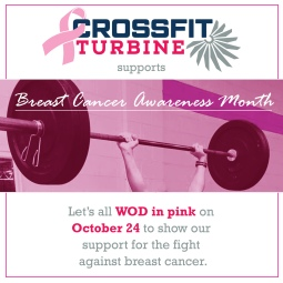 Social media image CrossFit Turbinne Breast Cancer Awareness WOD